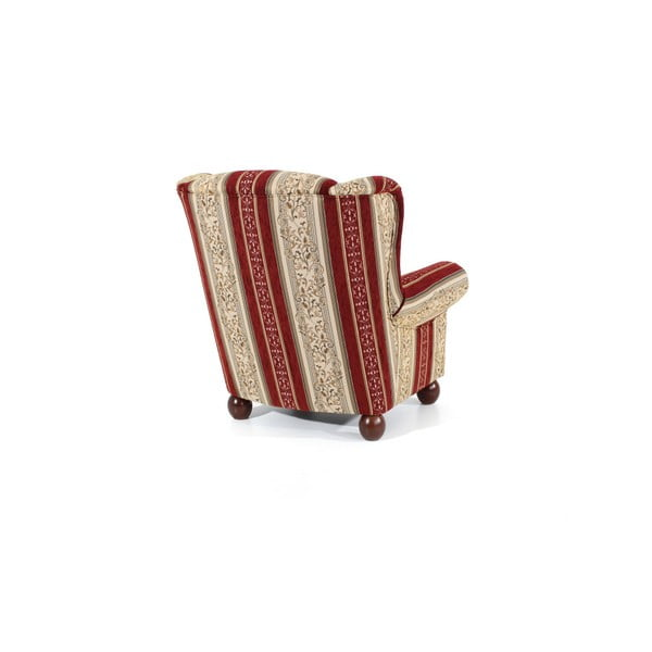 Monarch Chenille piros mintás füles fotel - Max Winzer