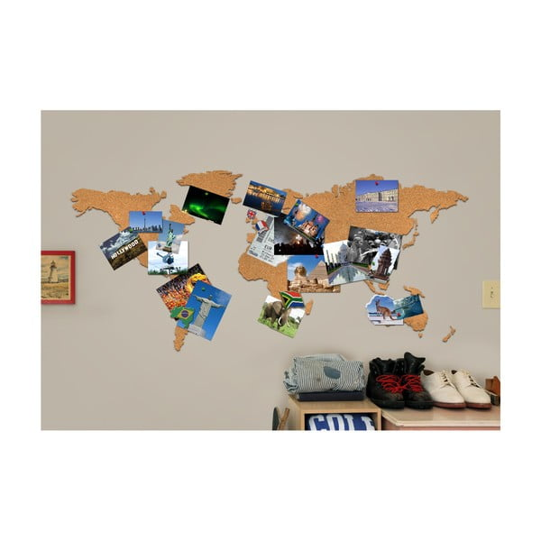 Corkboard Map parafa fali térkép - Luckies of London