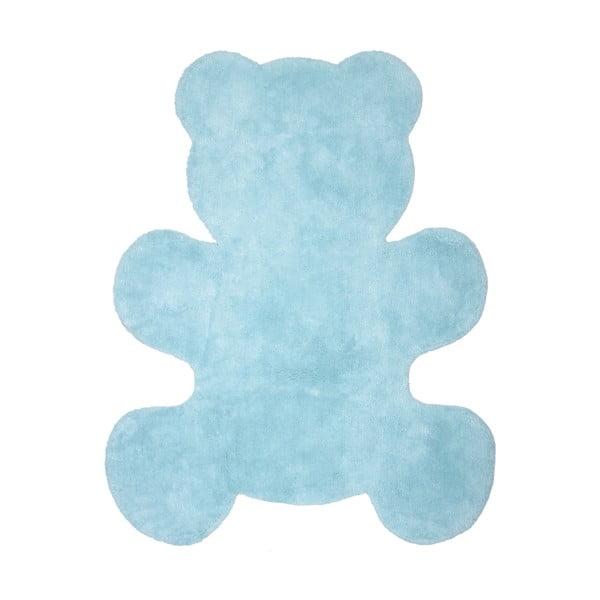 Little Teddy kék kézzel készített gyerekszőnyeg, 80 x 100 cm - Nattiot