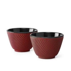 Xilin 2 db piros öntöttvas teáscsésze, ⌀ 7,8 cm - Bredemeijer