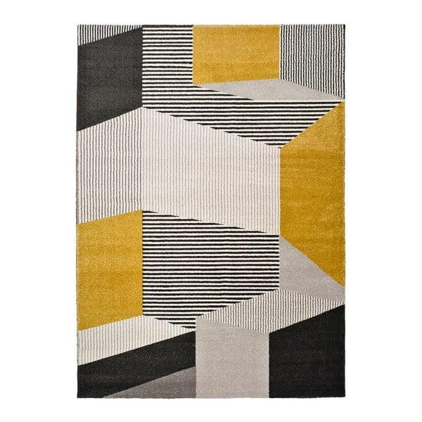 Elle sárga-szürke szőnyeg, 160 x 230 cm - Universal