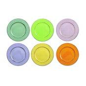 Cascina 6 darabos színes tányérkészlet, Ø 33 cm - Villa d'Este
