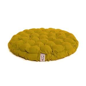 Bloom mustársárga ülőpárna masszázsgolyókkal, ⌀ 65 cm - Linda Vrňáková