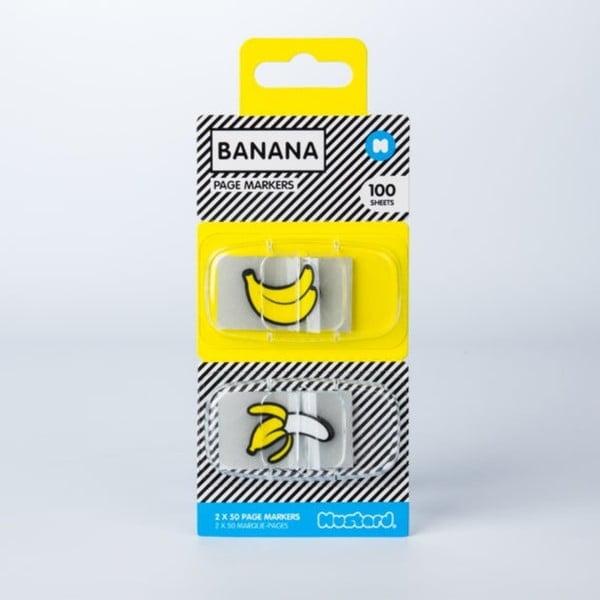 Banana öntapadós könyvjelzők - Just Mustard