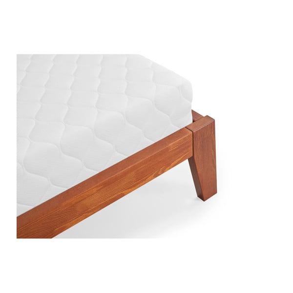 Agava Dark kétszemélyes tömör borovi fenyő ágy, 160 x 200 cm - SKANDICA