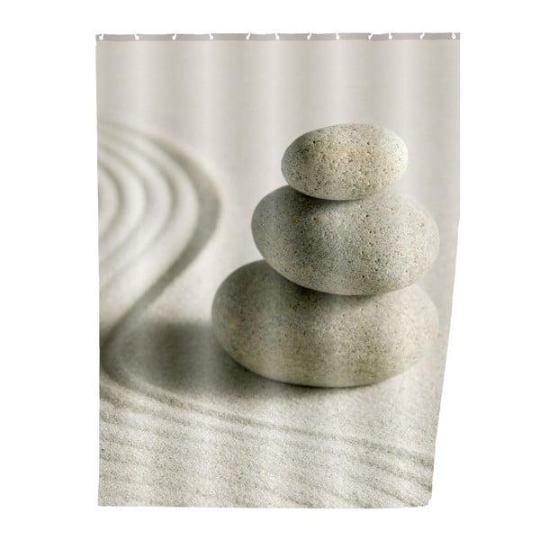 Sand szürke zuhanyfüggöny, 180 x 200 cm - Wenko