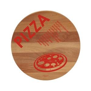 Pizza bükkfa tálalódeszka/vágódeszka, 30 cm - Bisetti