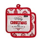 Merry Christmas karácsonyi mintás edényalátét, 2 db - Ladelle