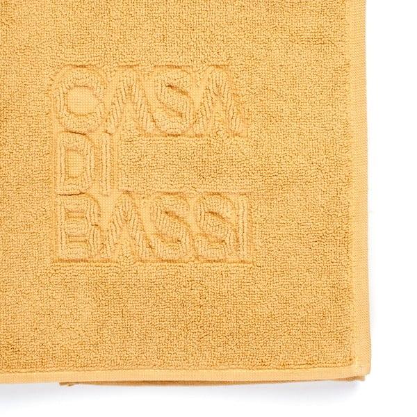 Sun sárga pamut fürdőszobai kilépő, 50 x 70 cm - Casa Di Bassi