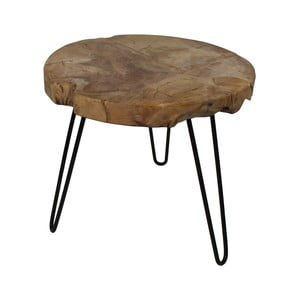Helen kisasztal teakfa asztallappal, Ø 55 cm - HSM collection