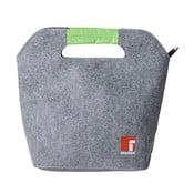 Business szürke-zöld ételhordó doboz, evőeszközzel és táskával - Bergner