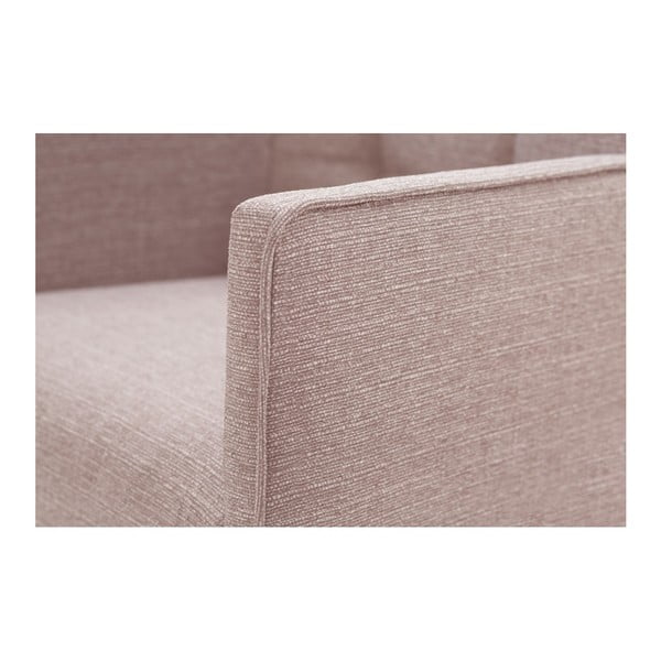 Freesia világos rózsaszín bükkfa szék, sötétbarna lábakkal - Ted Lapidus Maison