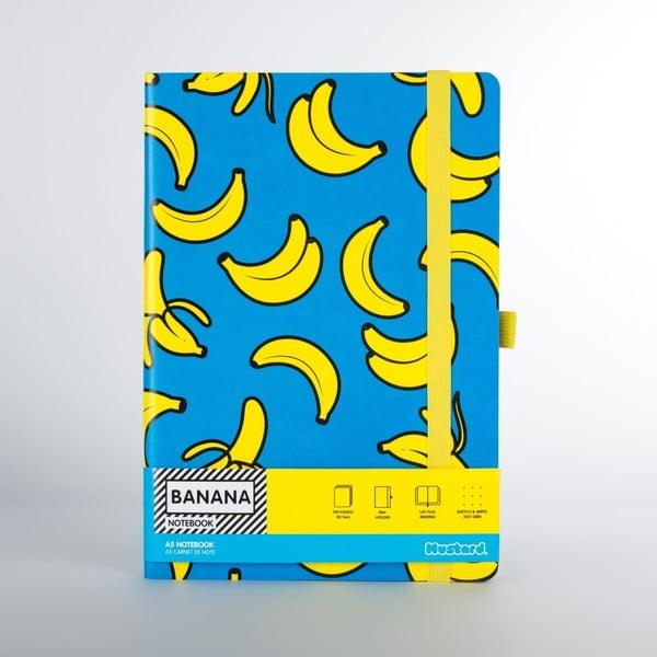 Banana banán mintás jegyzetfüzet - Just Mustard