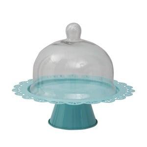 Kék tálaló állvány üveg fedéllel, Ø 28 cm - Mauro Ferretti