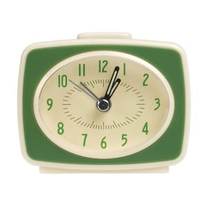 Retro TV Style zöld ébresztőóra - Rex London