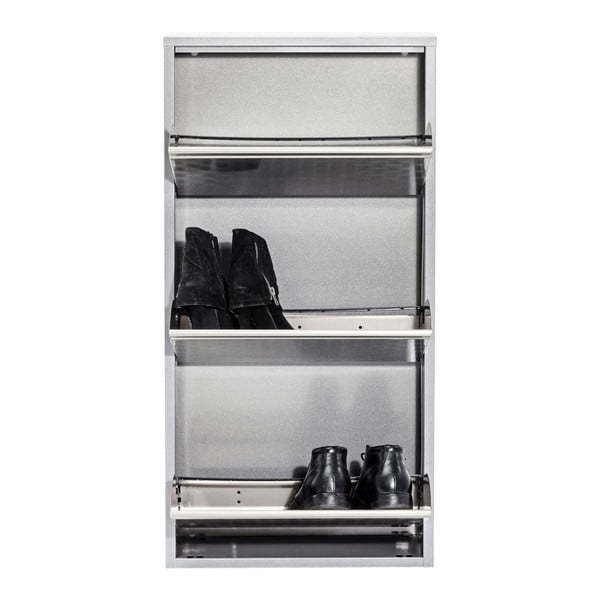 Caruso ezüstszínű fém fali cipősszekrény - Kare Design