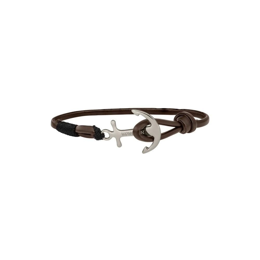 72d9e9071d Sailor barna férfi bőr karkötő ezüst színű elemmel - Monomen | Bonami