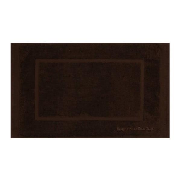 Beverly Hills Polo Club 2 darabos barna fürdőszobai kilépő szett téglalap mintával, 86 x 50 cm