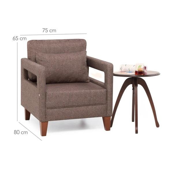 Home Monica barna fotel kartámasszal - Balcab
