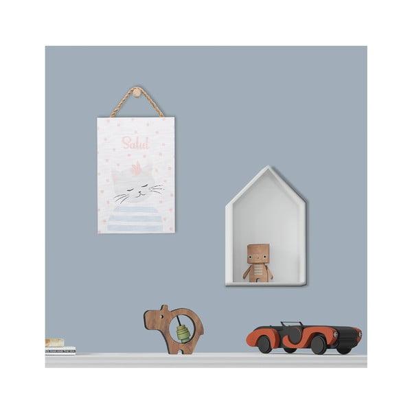 Fali dekoráció macska motívummal, 20 x 30 cm - KICOTI