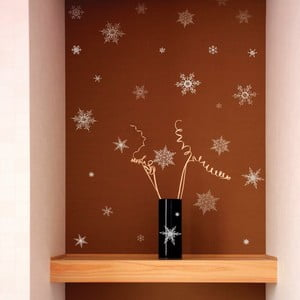 Christmas Silver Flakes 30 db-os karácsonyi falmatrica készlet - Ambiance