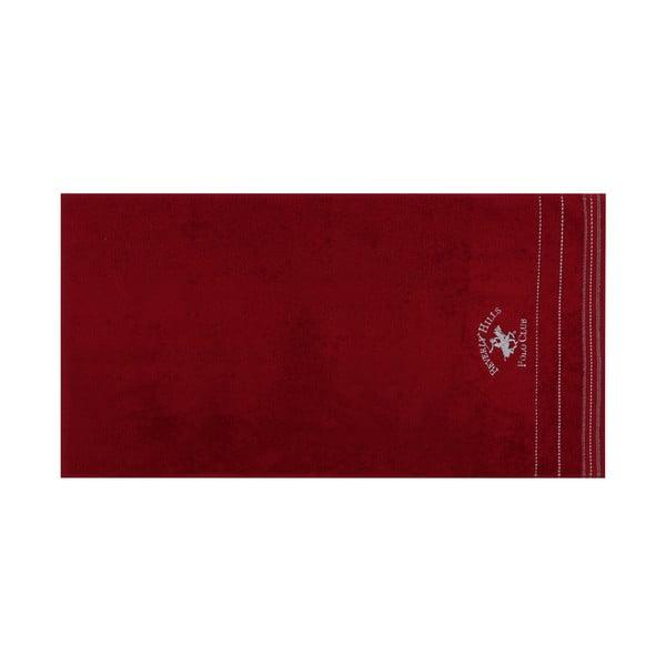 Polo Club piros-fehér kéztörlő szett