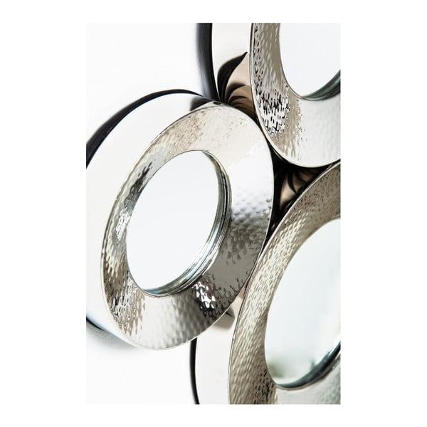 Circoli falitükör, ezüstszínű kerettel - Kare Design