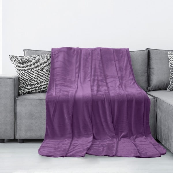 Tyler lila mikroszálas takaró, 220 x 240 cm - AmeliaHome