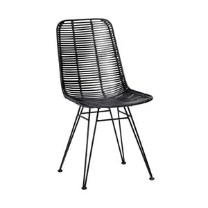 Bergitte fekete rattan szék - Hübsch
