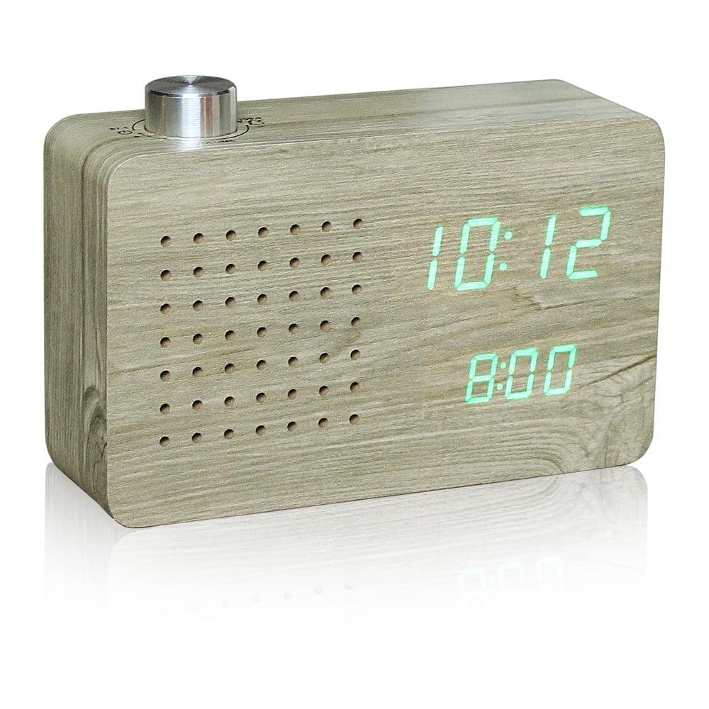 Click Clock világos ébresztőóra zöld LED kijelzővel és rádióval - Gingko 047a1d01c8