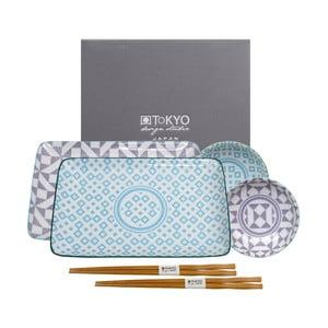 Geo Eclectic 6 darabos kék-lila készlet - Tokyo Design Studio