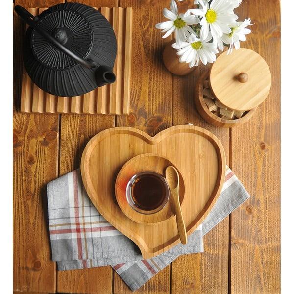 Amor bambusz tál, szélesség 23 cm - Bambum