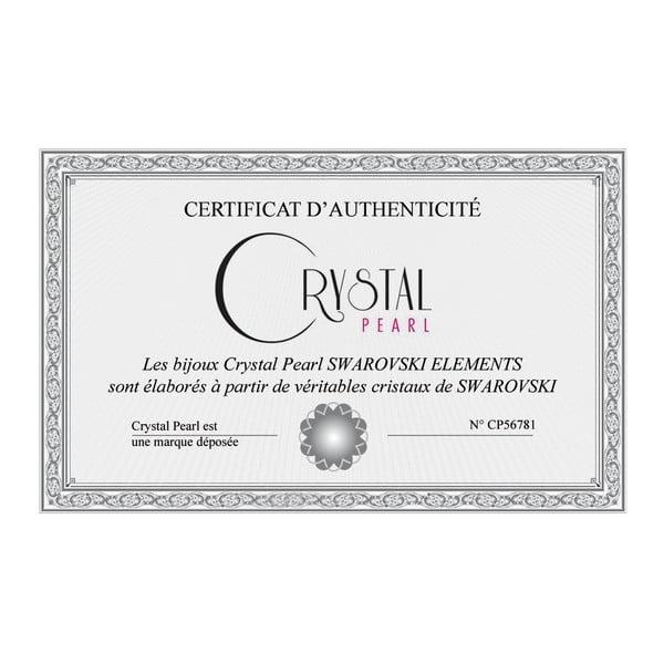 Love Heart ezüst medál rózsaszín és fehér cirkonnal - Swarovski Elements Crystals