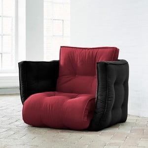 Dice Light Bordeaux/Black kinyitható szék - Karup