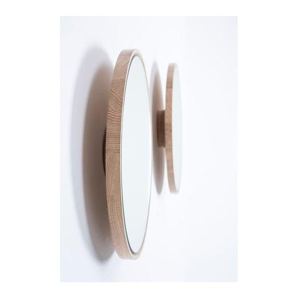 Look falitükör tömör tölgyfa kerettel, ⌀ 32 cm - Gazzda
