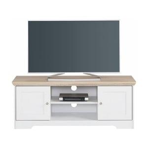 Annie fehér TV asztal tölgyfa színű lappal, 120 x 45 cm - Støraa