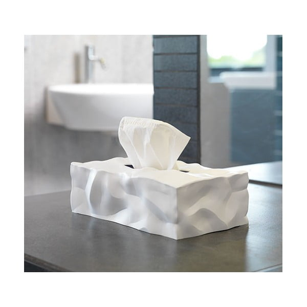 Wipy II fehér zsebkendőtartó doboz - Essey