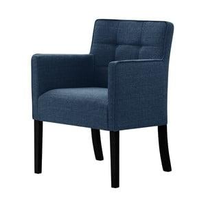 Modrá židle s černými nohami z bukového dřeva Ted Lapidus Maison Freesia
