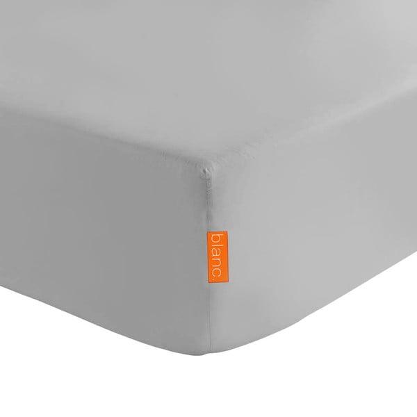 Basic szürke elasztikus lepedő 100% pamutból, 90 x 200 cm - Baleno