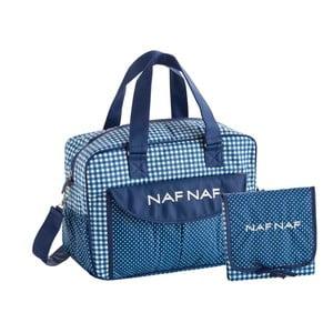 Vichy kék pelenkázó táska szett b2a6a0a329