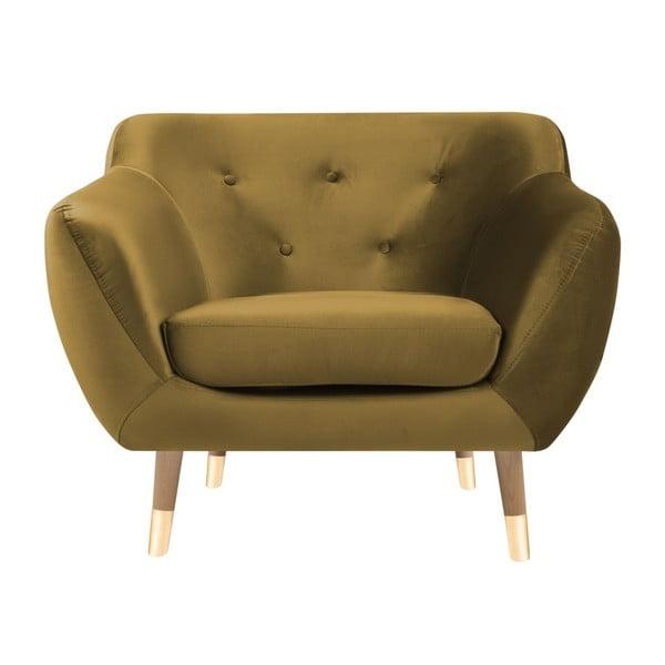 Amelie aranyszínű fotel - Mazzini Sofas