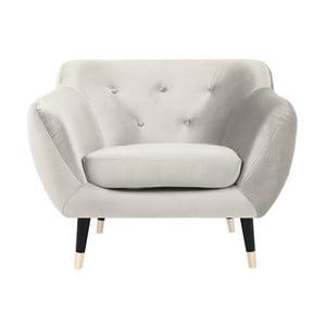 Amelie krémszínű fotel fekete lábakkal - Mazzini Sofas