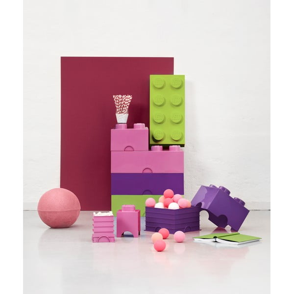 Világos-rózsaszín tároló doboz - LEGO®