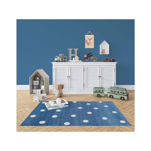 Dots kék pöttyös szőnyeg, 160 x 230 cm - KICOTI