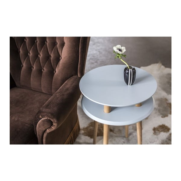 UFO sötét türkiz dohányzóasztal, Ø 45 cm - Ragaba