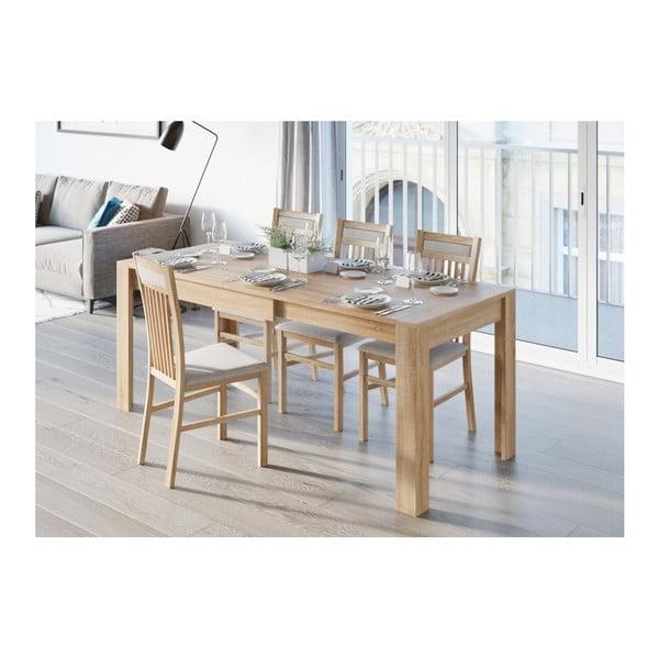 Syrius tölgyfamintás bővíthető étkezőasztal - Szynaka Meble