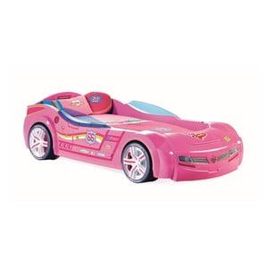 Biturbo Carbed Pink autó formájú rózsaszín gyerekágy, 90 x 195 cm