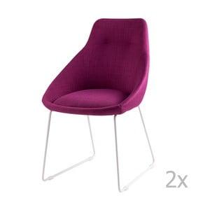 Alba rózsaszín étkezőbe való székkészlet, 2 részes - sømcasa