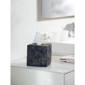 Wipy Cube fekete zsebkendőtartó doboz - Essey