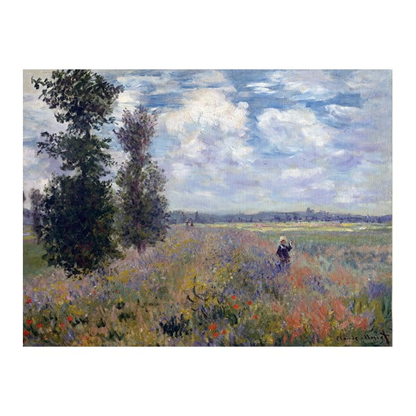 Claude Monet - Poppy Fields near Argenteuil kép másolat, 40 x 30 cm